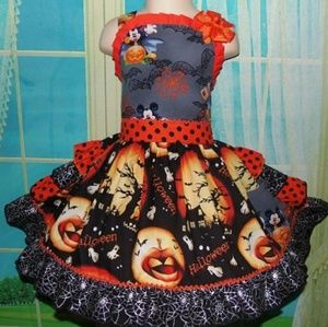 Custom made 3T Mickey Halloween dress/ Pageant ooc